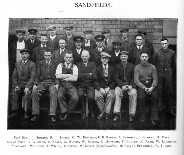 Sandfields Staff c1937